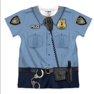 Faux Real police shirt, size 2T